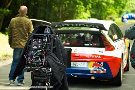Tournage Citroen 3D rig for Sony EX3